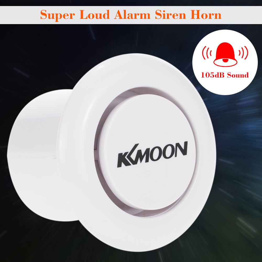 kkmoon alarme super fort siren corne ext rieur pour accueil maison alarme syst me de s curit. Black Bedroom Furniture Sets. Home Design Ideas