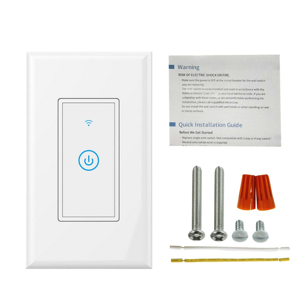 Wifi Light Switch Smart Wall Touch Us Sales Online Tomtop Basic 4way Wiring Electrical