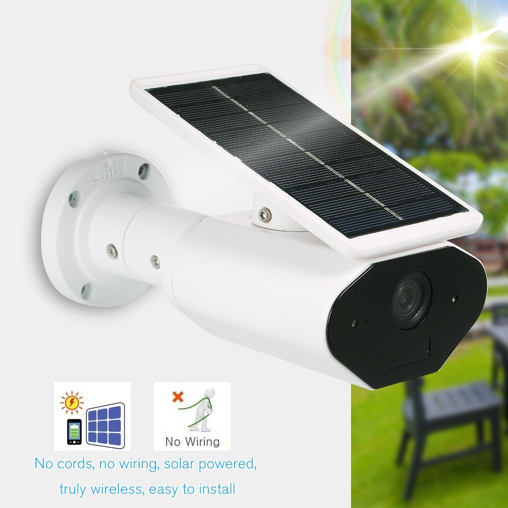 Wifi 960p 13mp Solar Battery Power Surveillance Security Camera Wiring