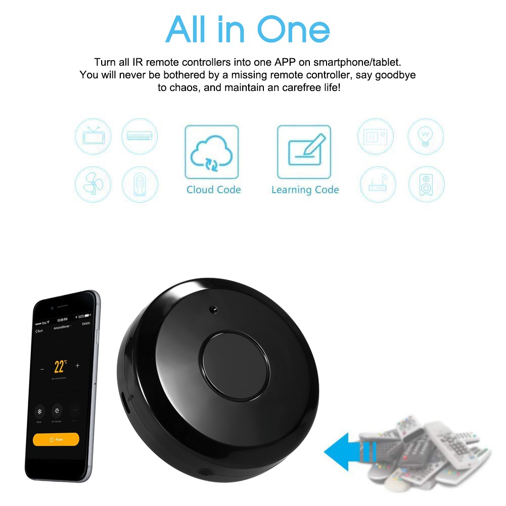 WiFi-IR Remote IR Control Hub Wi-Fi(2 4Ghz) Enabled Infrared Universal  Remote Controller