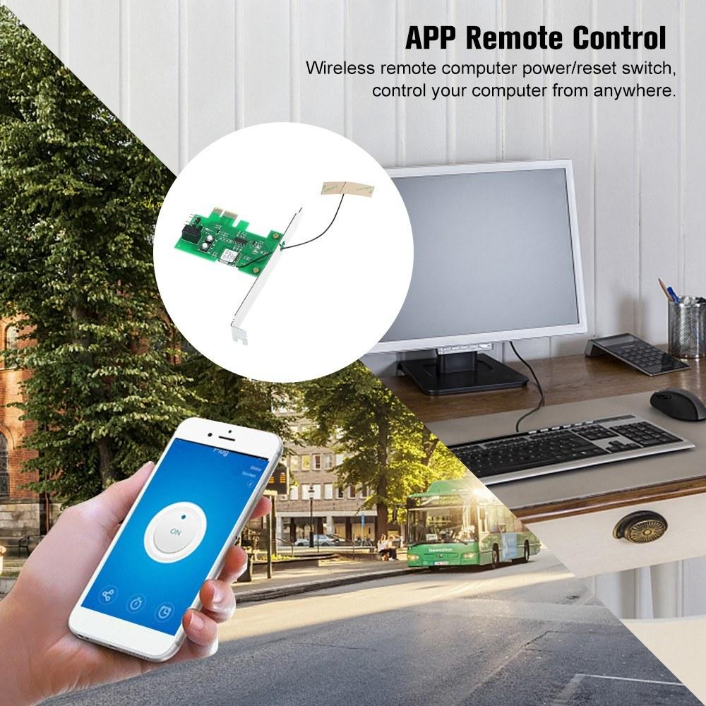 Best eWeLink Mini PCI-e Desktop PC Remote Control Switch Card WiFi 1# Sale  Online Shopping   Cafago com