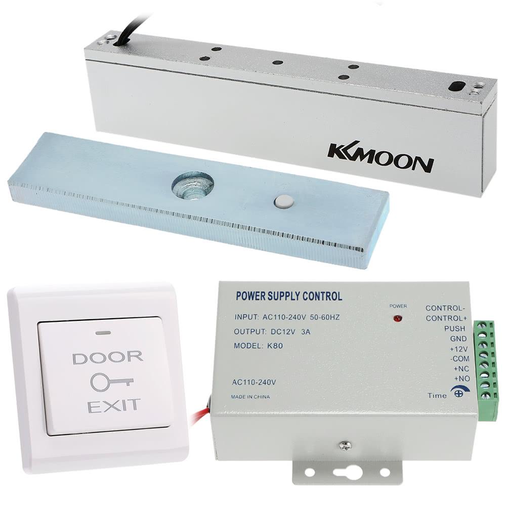 Beste KKmoon 180KG / 396lb Elektro Magnetschloss + Tür-Schalter + ...