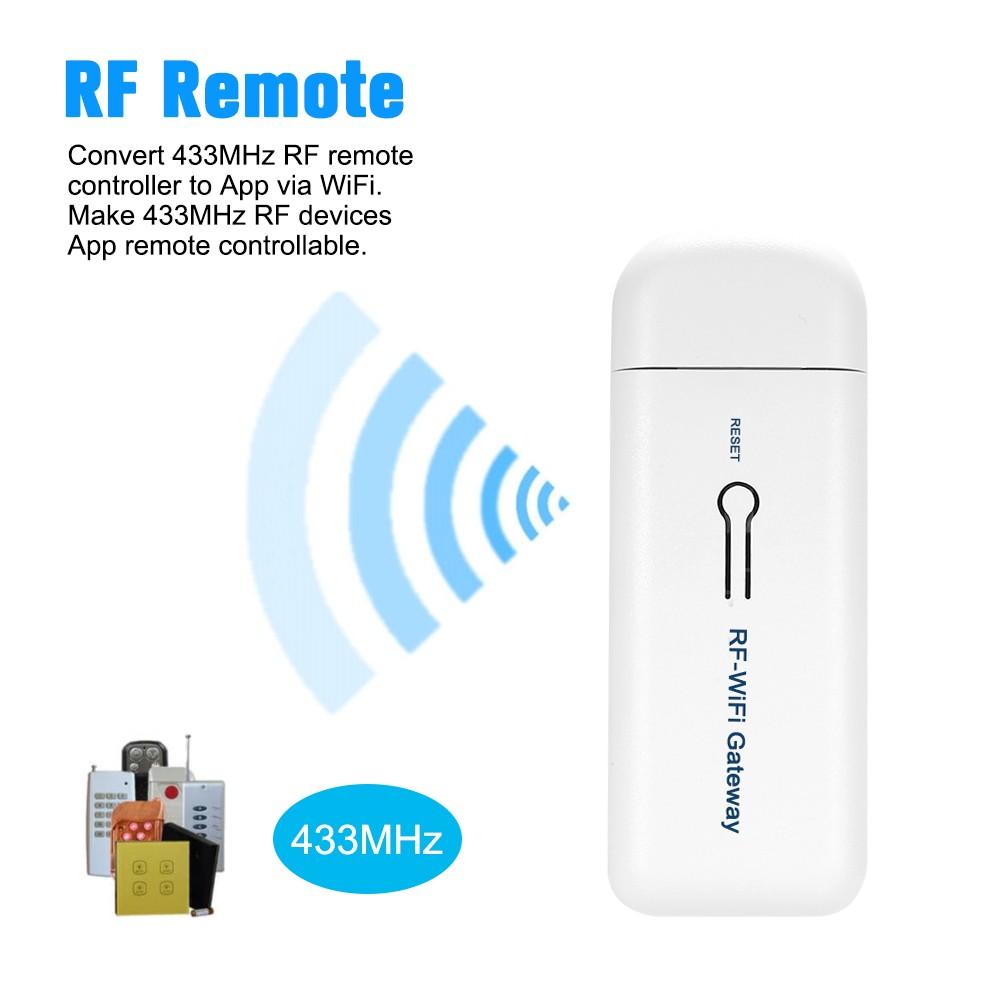 Wireless RF-WiFi Gateway Alarm System with 433MHz Remote Controller Door  Sensor PIR Motion Sensor Smoke Detector Android IOS Free APP Remote Control