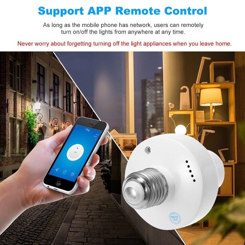 Best eWeLink WiFi Smart Light Bulb Holder E27 Wireless Lamp Holder Sale  Online Shopping | Cafago com