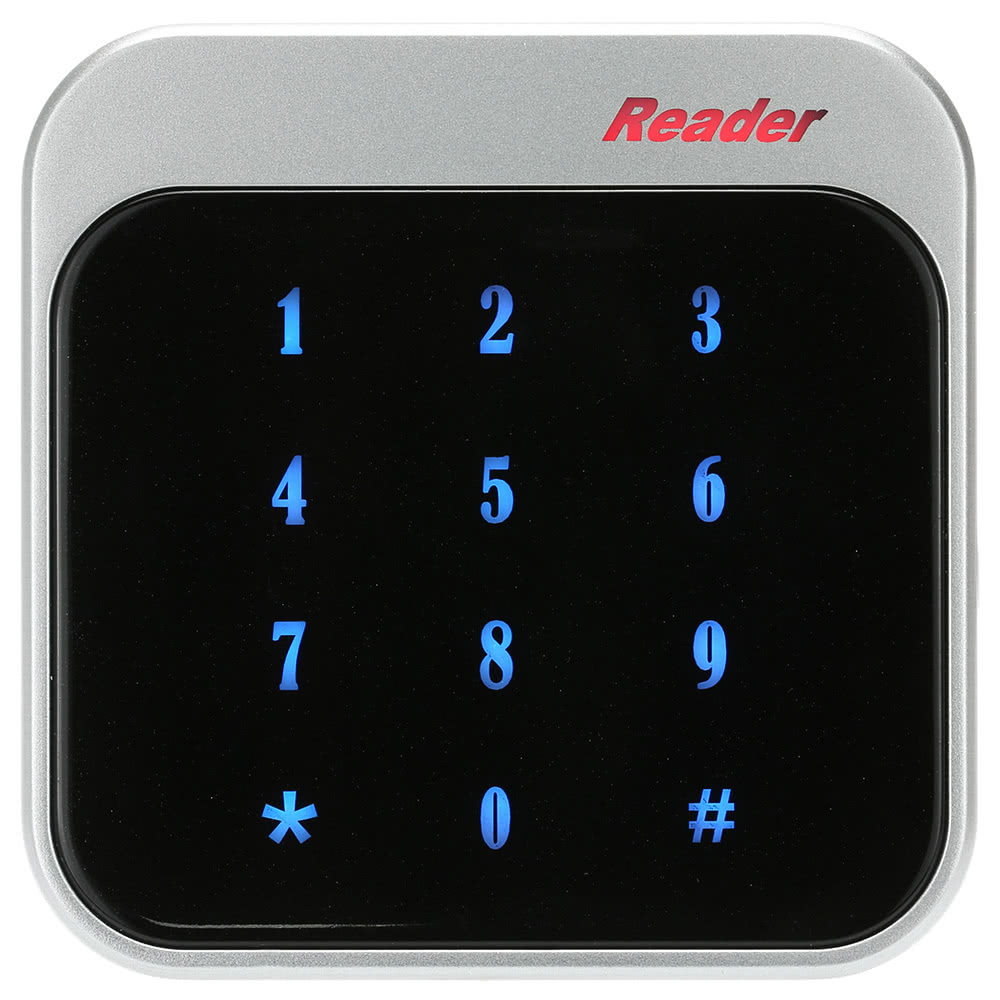 RFID 13.56MHz Proximity Smart IC Card Reader Touch Keyboard Wiegand26/34 Door Entry Access Control System