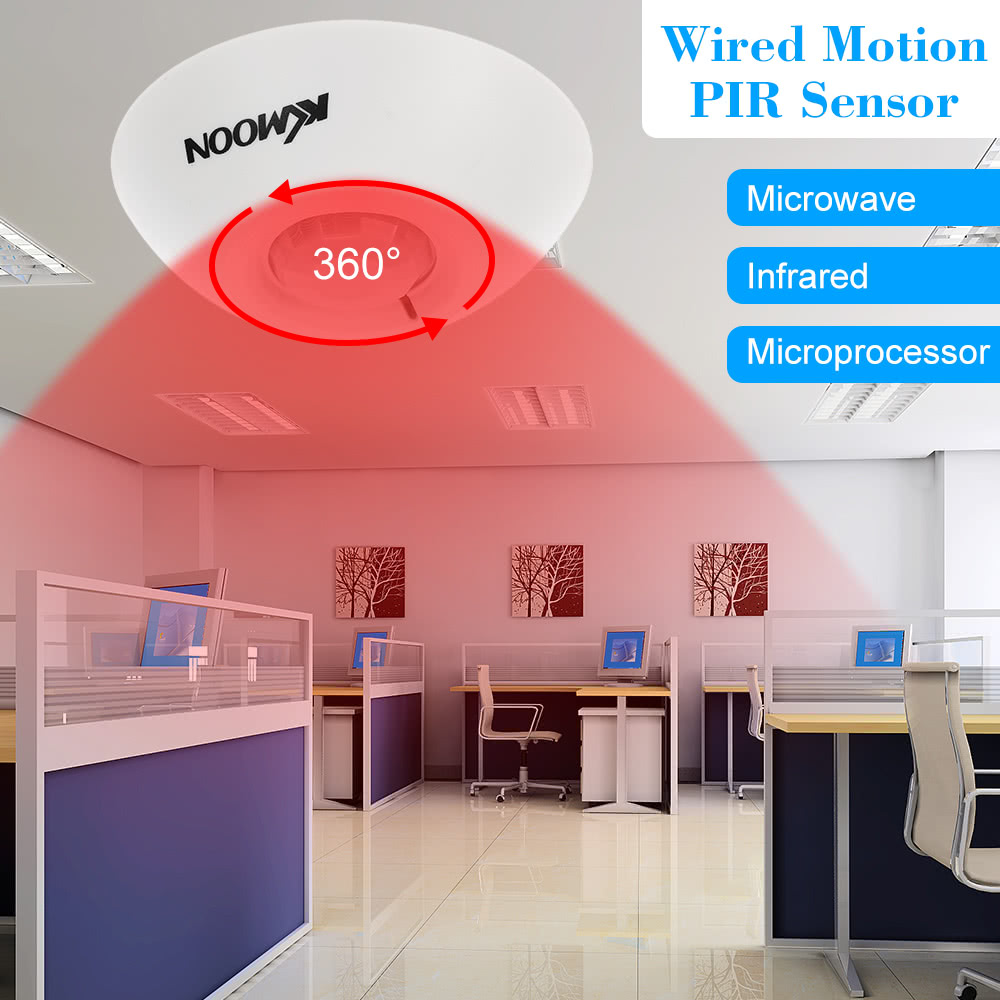Kkmoon Wired Motion Pir Sensor Human Movement Infrared Detector For Based Security System Alarm Sales Online Tomtop