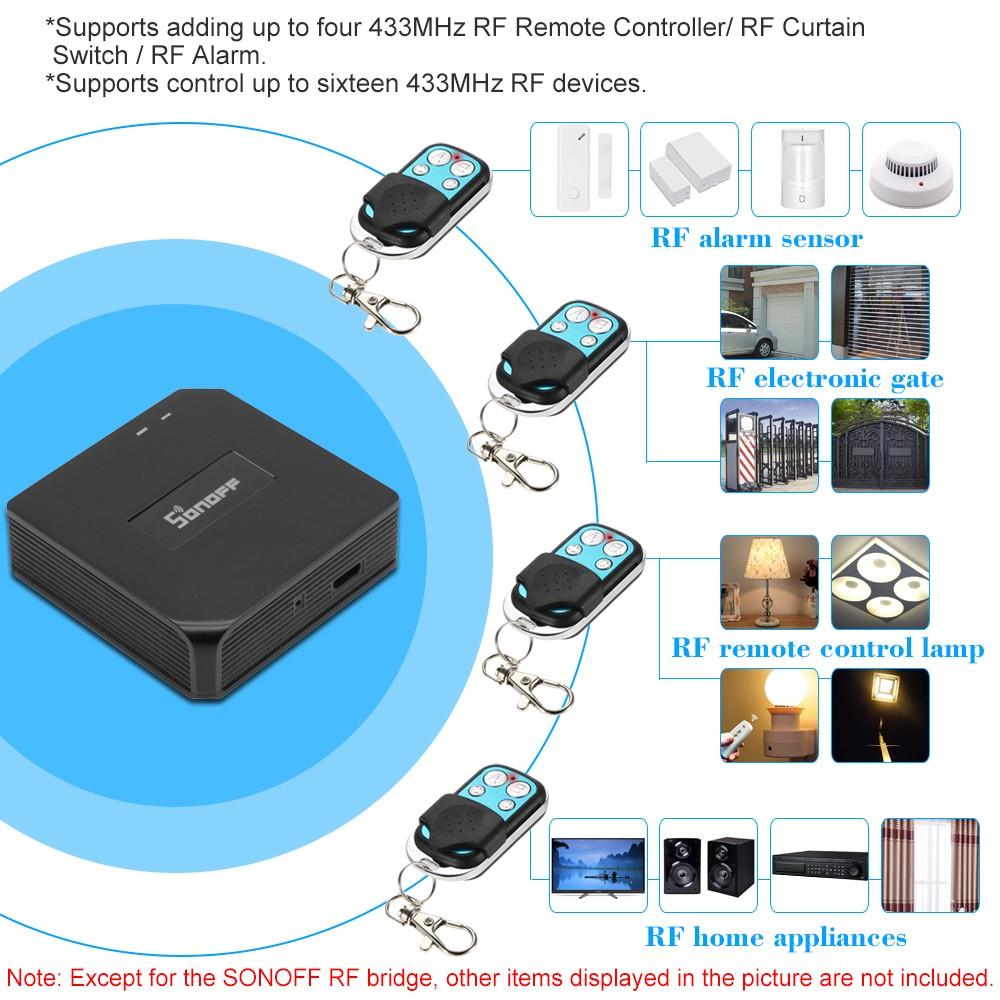 SONOFF RF Bridge ITEAD 433MHz Smart Home Automation Module Wifi Wireless  Switch