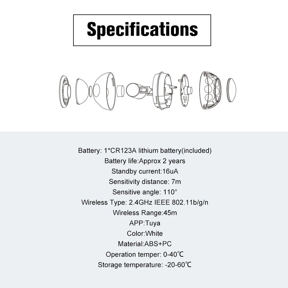 WiFi PIR Motion Sensor Detector Home Alarm System Sales Online - Tomtop