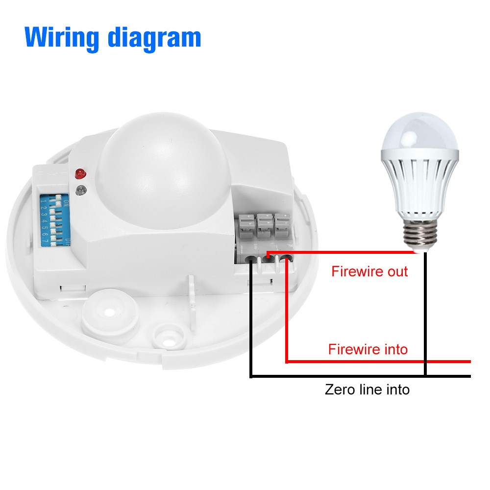 Ac220 240v Microwave Radar Sensor Light Switch Sales Online Tomtop Lamp Wiring Diagram Two 1 Motion Set Of Mounting Screws User Manual English