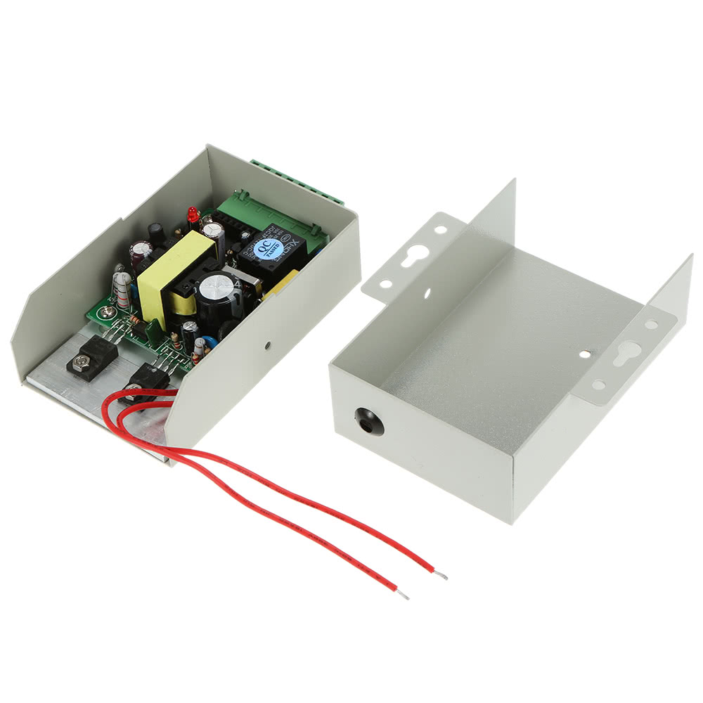 Door Entry Access Control System Kit Password Host Controller + 180KG/396lb Electric Magnetic Lock + Door Switch + DC12V Power Supply + 10pcs 125KHz RFID Cards