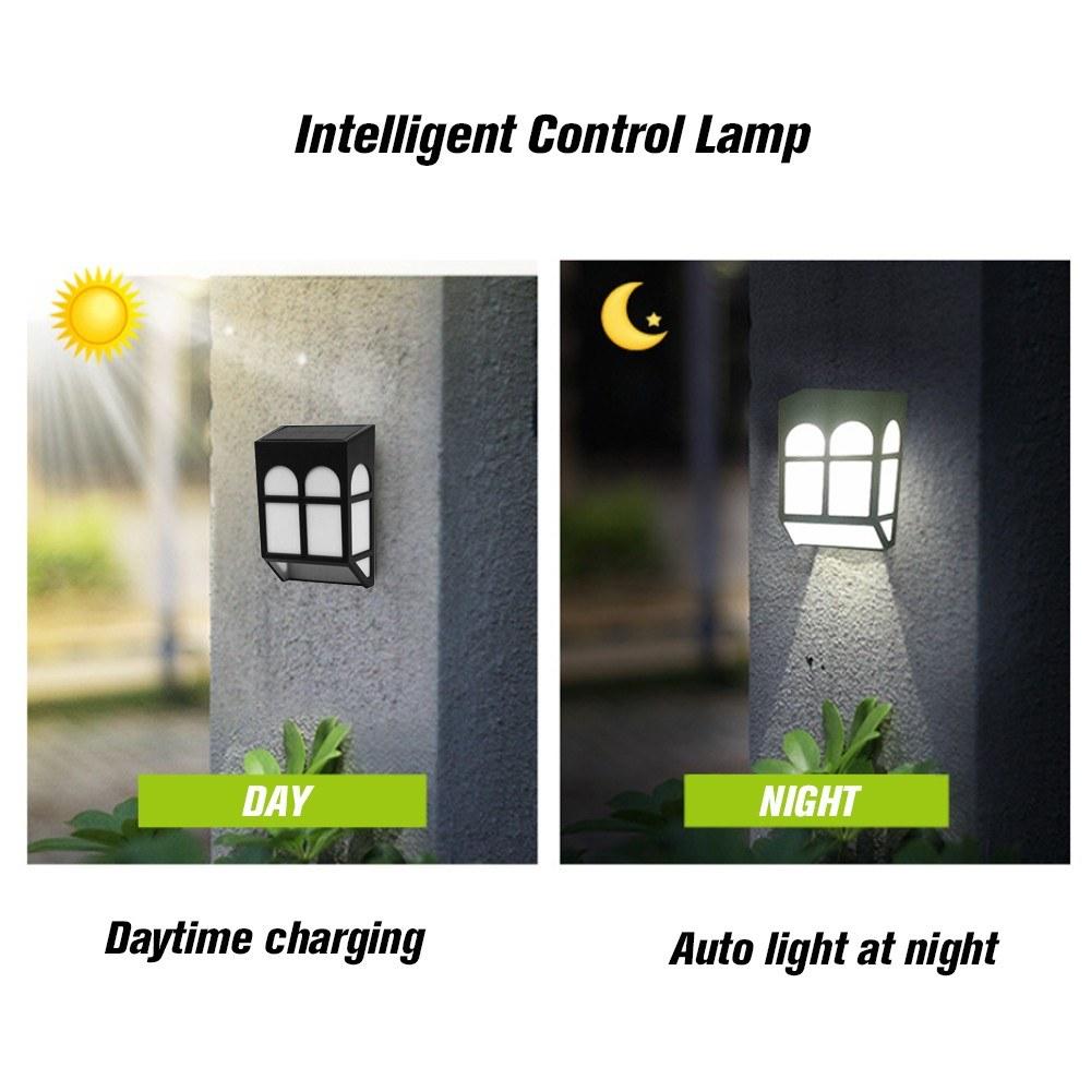 Solar Energy Lamp Outdoor Fence Lamps Garden Waterproof Landscape ...