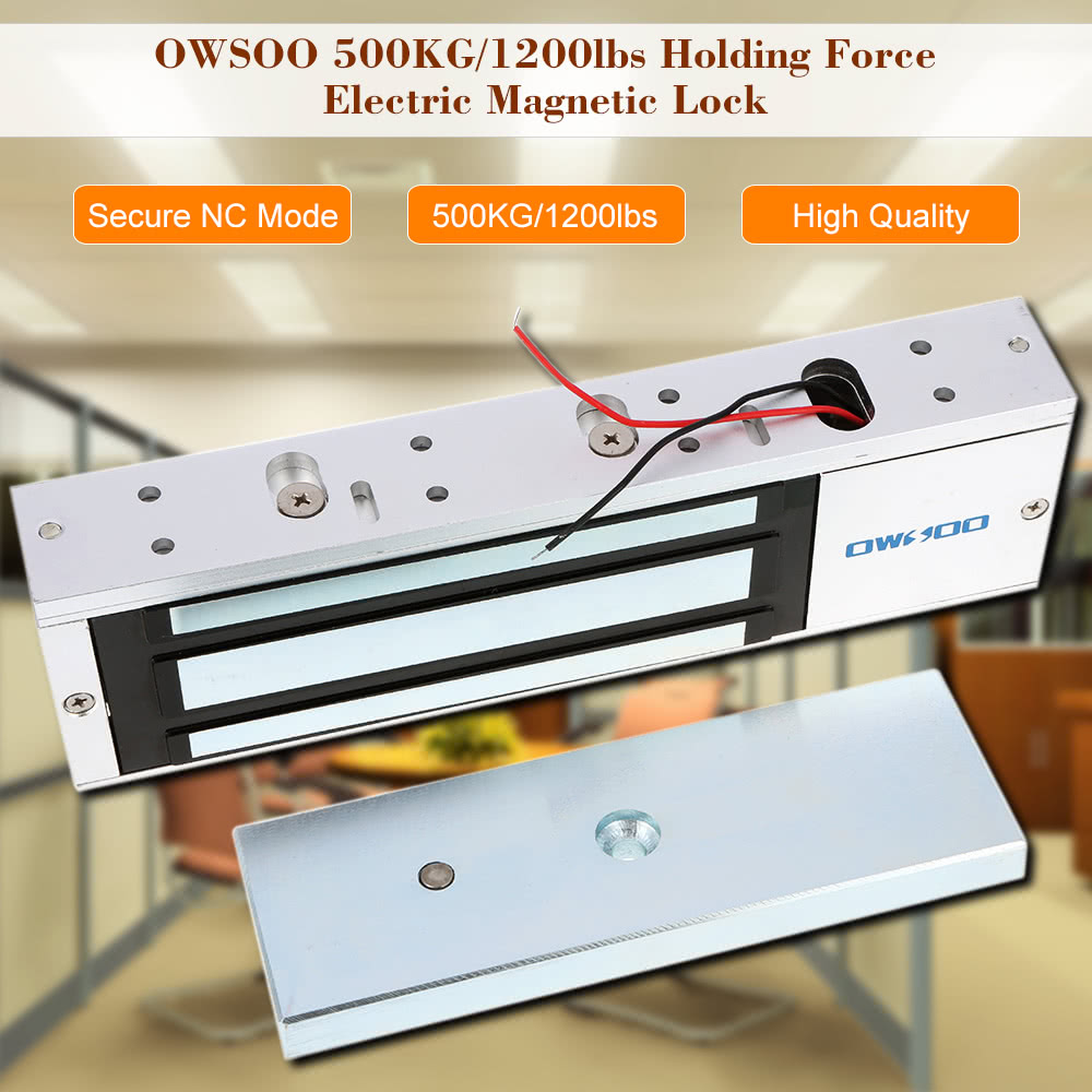Owsoo 500kg 1200lbs Holding Force Electric Magnetic Lock For Door Wireless Wiring Diagram 1 Package Of Mounting Screws User Manual