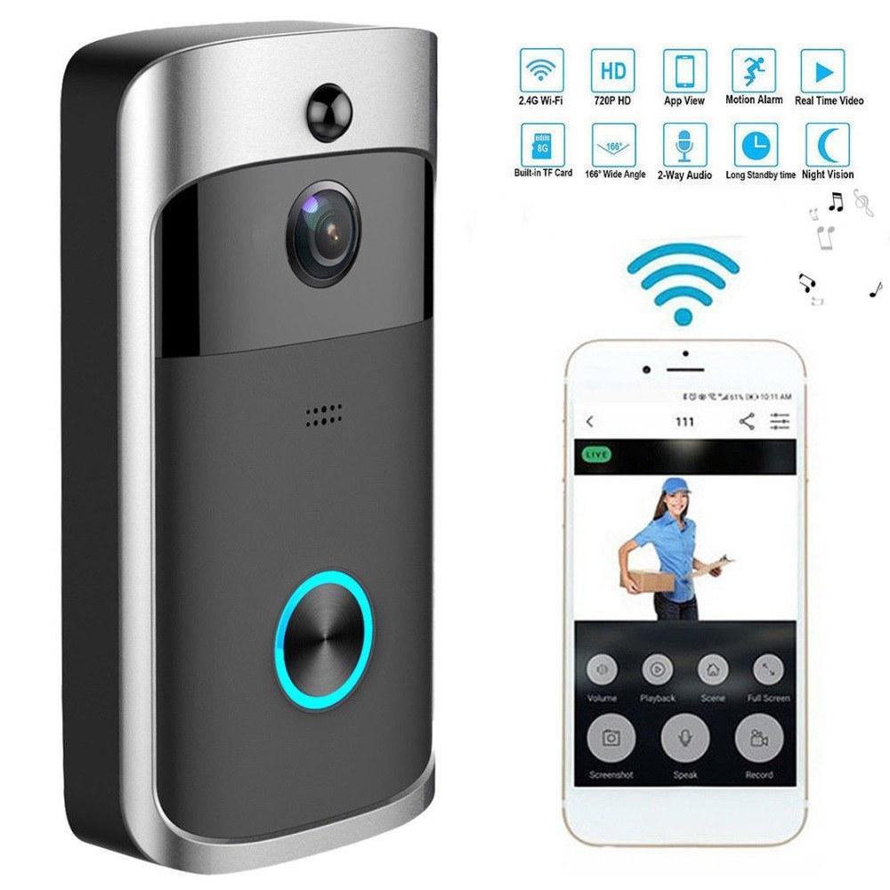 4225-OFF-Video-Door-Phone-Visual-Recording-WiFi-Security-DoorBelllimited-offer-243729