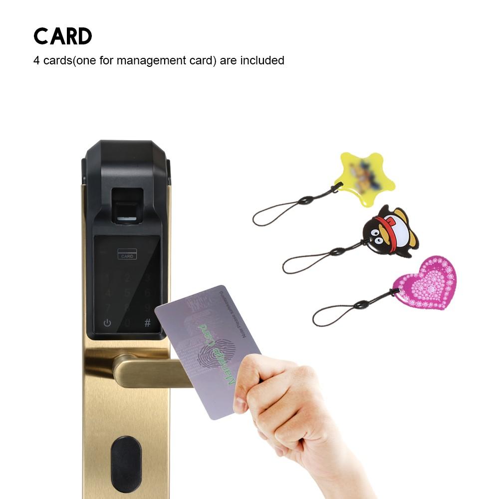 Fingerprint Door Lock Digital Fingerprint Password Key Card 4 in 1 Lock  Sales Online #3 - Tomtop