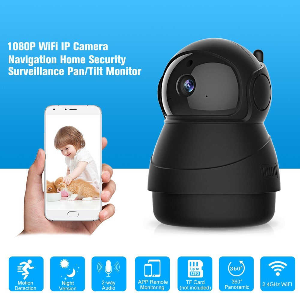 Smart PTZ IP Cameras 1920*1080P 2MP Wifi Indoor Wireless Security Camera  Sales Online au plug - Tomtop