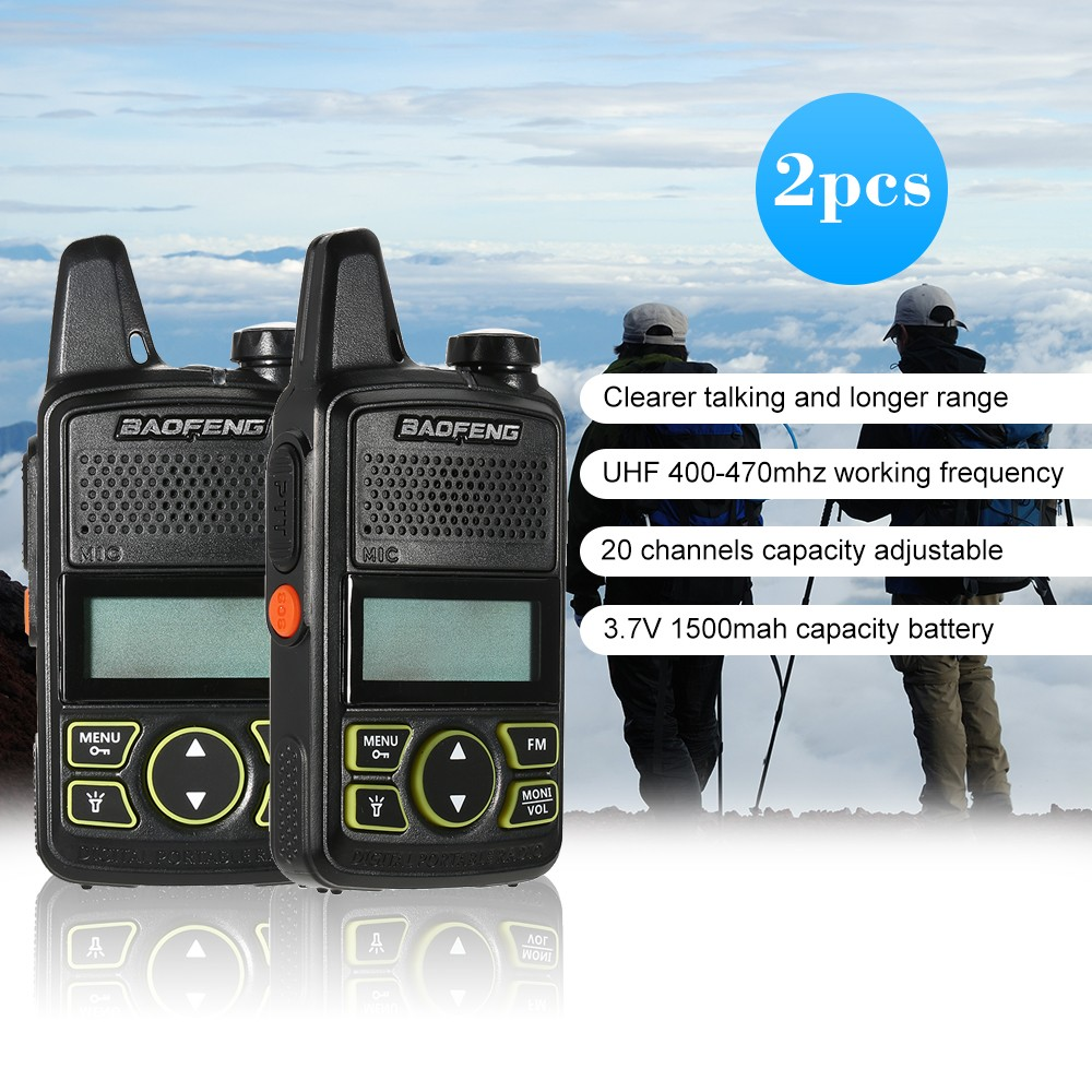 Baofeng Bf T1 Mini Two Way Radio Walkie Talkie Uhf 400 470 Mhz 20ch Fm Products For Sale 1 20 High Quality Images Are Portable Handheld Interphone 1500mah Battery Flashlight Sales Online Us Tomtop