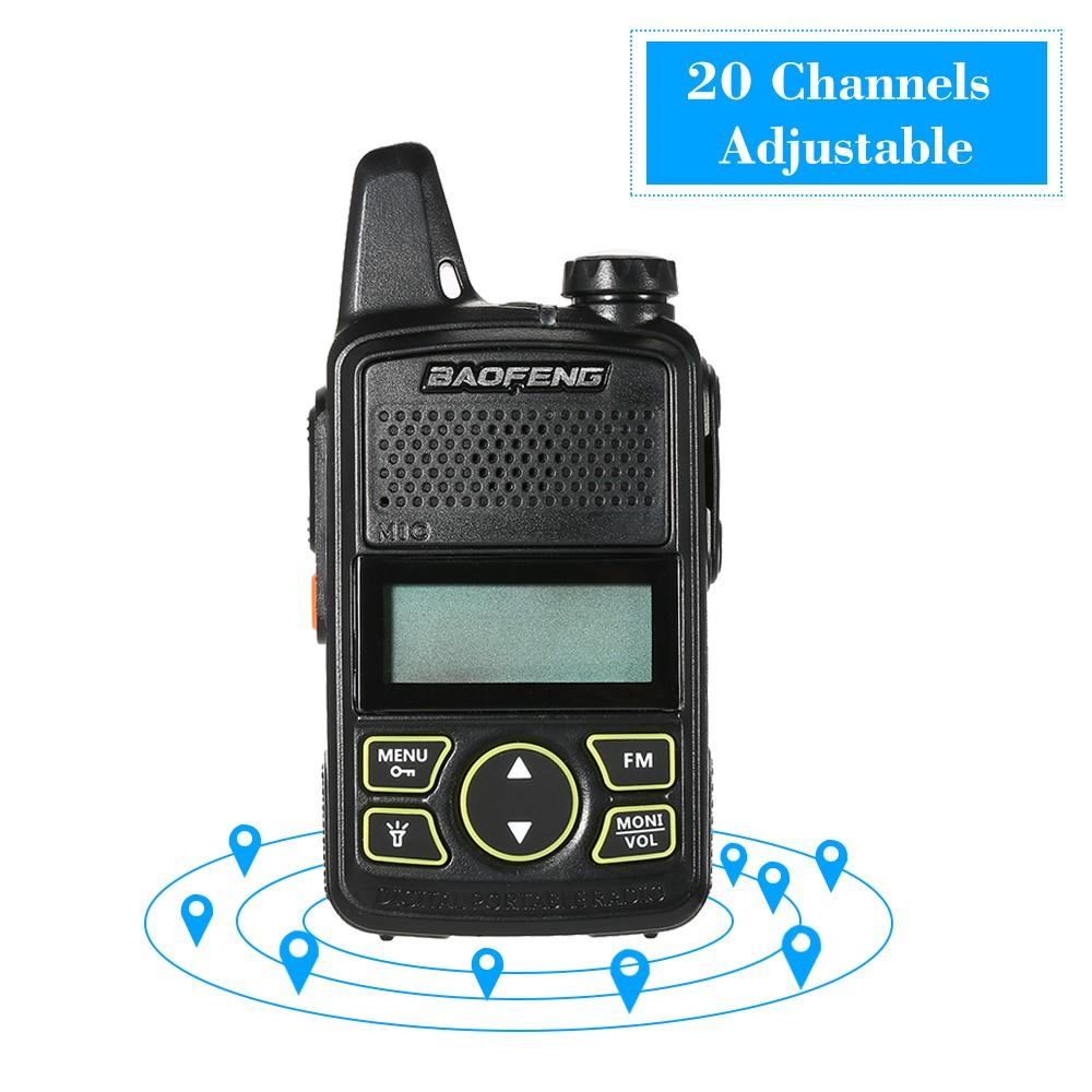 6a67adff195 BaoFeng BF-T1 Mini Two Way Radio Walkie Talkie UHF 400-470 MHz 20CH Portable  Handheld Interphone 1500mah Battery Flashlight