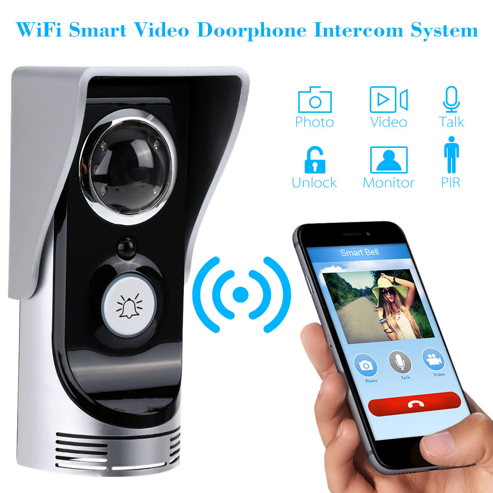 wifi smart video t rsprechanlage 0 3mega pixel drahtlose t rglocke video ap intercom system. Black Bedroom Furniture Sets. Home Design Ideas