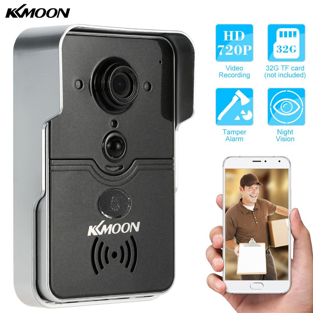 KKmoon HD 720P Doorbell P2P Wireless WIFI Video Door Phone Visual Intercom Remote Unlock Support TF Card Phone Access