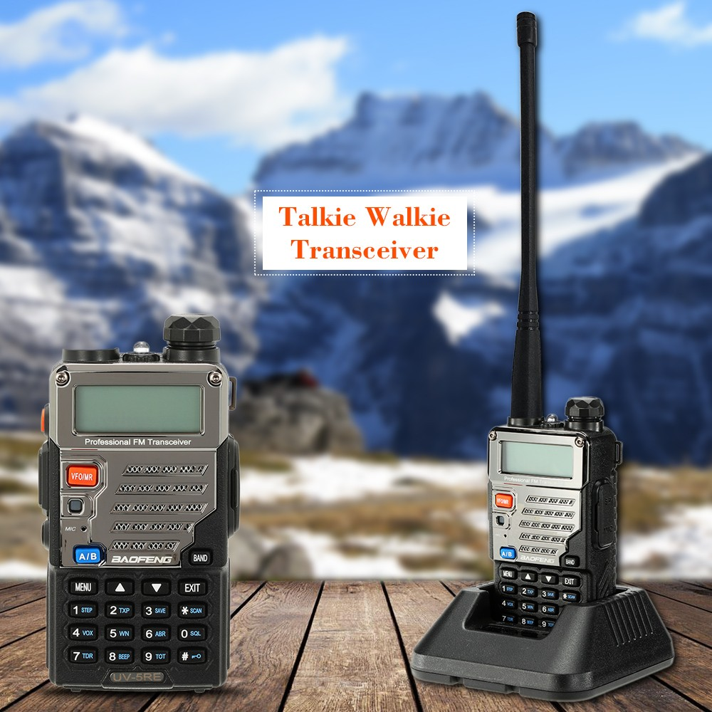 Baofeng Uv 5re Walkie Talkie Dual Band 136 174 400 520mhz Two Way Ht Verxion Radio With Earpiece