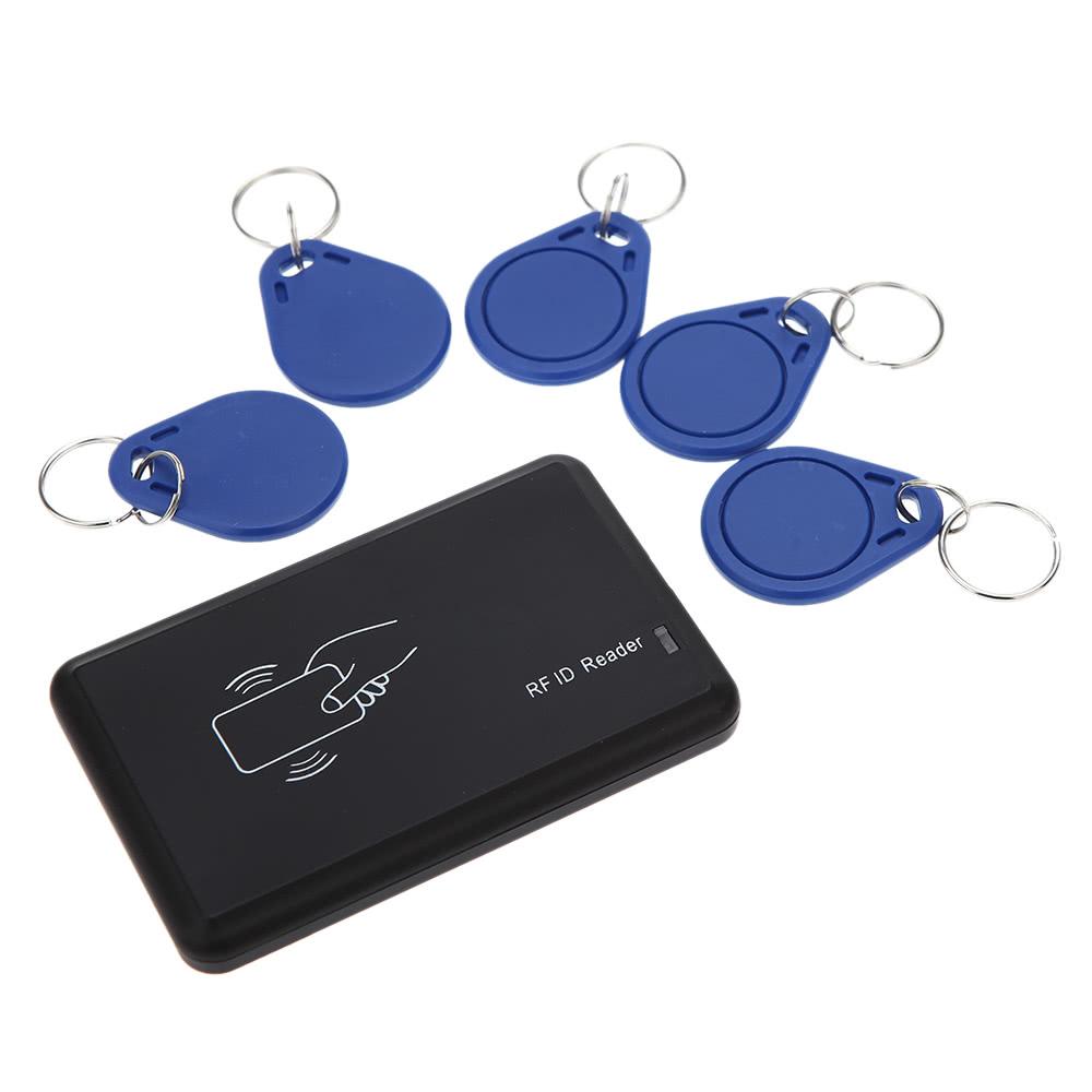 Contactless 14443A IC Card Reader USB Interface 5pcs Cards + 5pcs Key Fob 13.56MHZ RFID