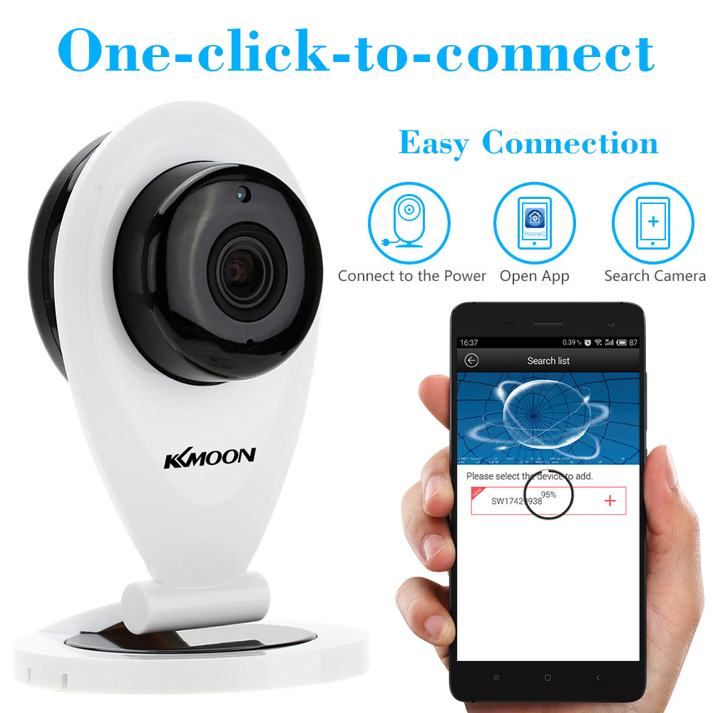 KKmoon H 264 1 0MP HD 720P Mini IP Camera P2P IR Cut WiFi Wireless Network  IP Security Camera Baby Monitor Webcam