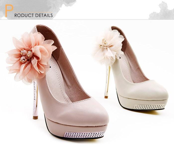 Fashion women pumps flower high heels platform slole stiletto heel fashion women pumps flower high heels platform slole stiletto heel court shoes beige mightylinksfo