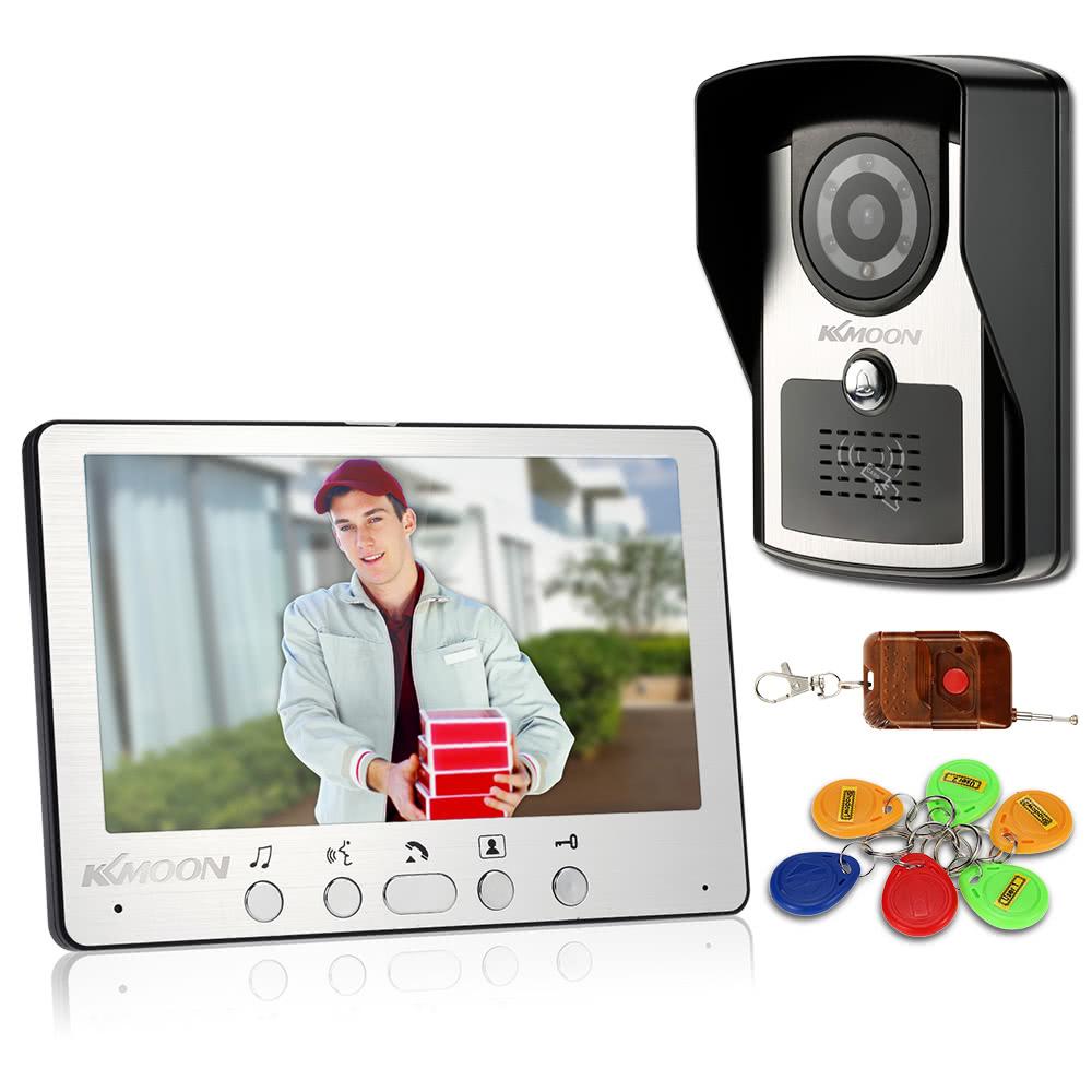 Mejor kkmoon 7 con cable v deo puerta tel fono sistema for Puertas kiuso telefono