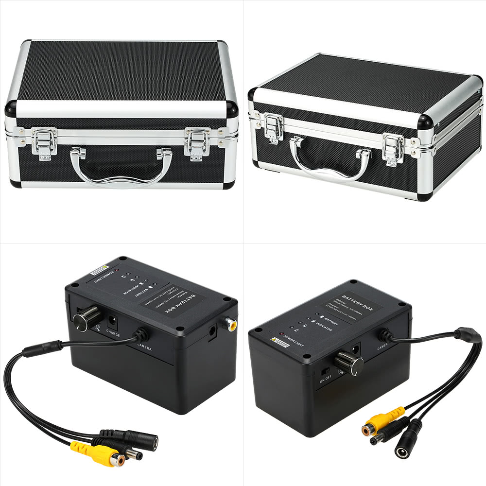 Kkmoon hd underwater fish finder kit with 9 lcd monitor for Ice fishing battery box