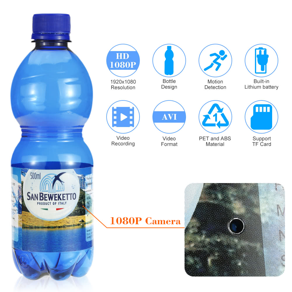 $9 OFF 1080P Spy Hidden Bottle Camera,free shipping $26.99