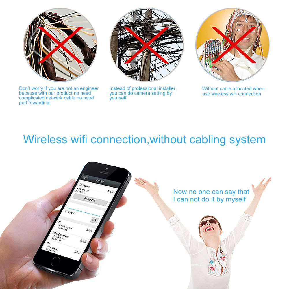 EasyN HD 720P Megapixel Wireless Wifi IP Cloud Camera CCTV Surveillance  Security Network Outdoor Indoor Bullet Camera Support P2P for Android/iOS  APP