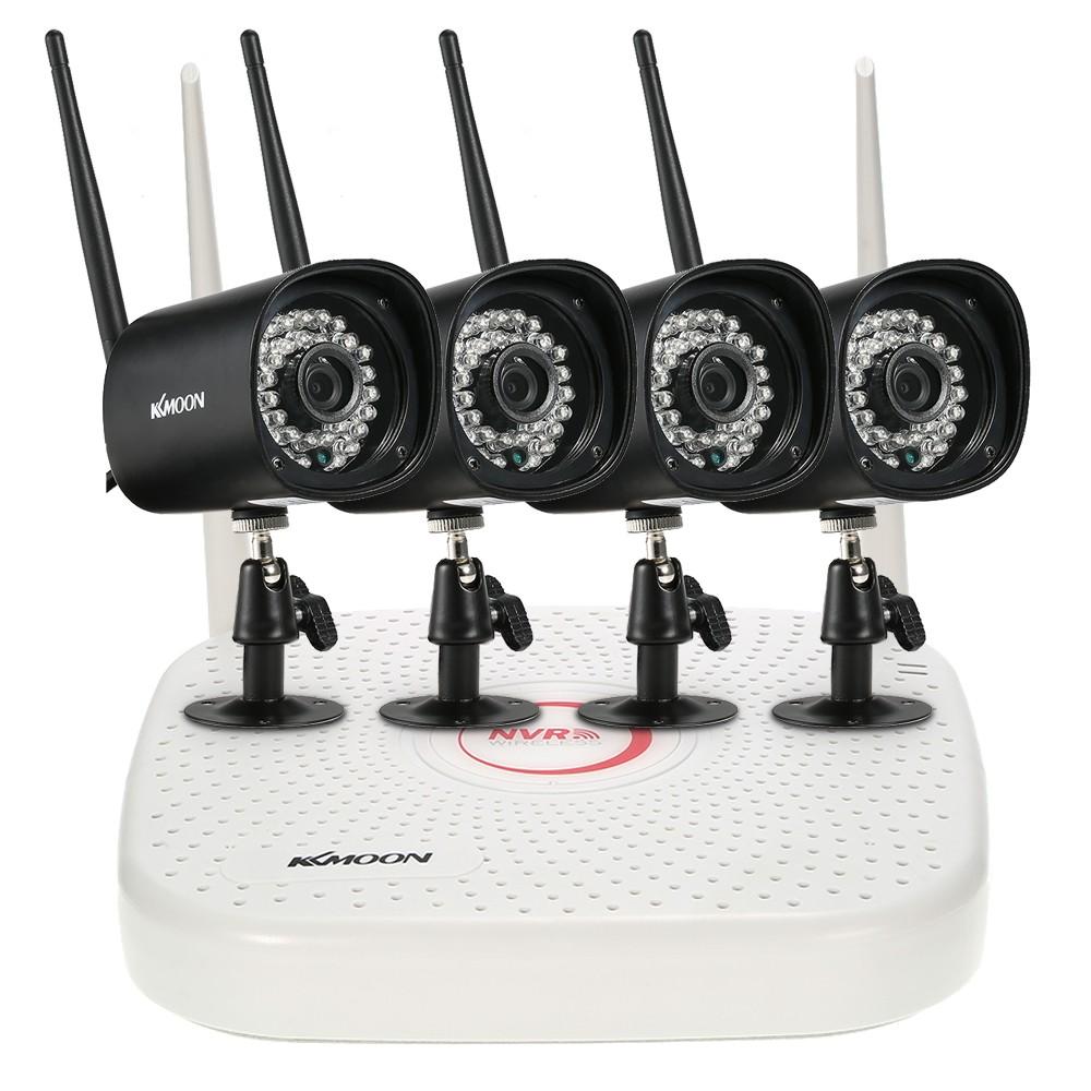meilleur kit de surveillance nvr hd wifi 4 eu plug vente en ligne. Black Bedroom Furniture Sets. Home Design Ideas