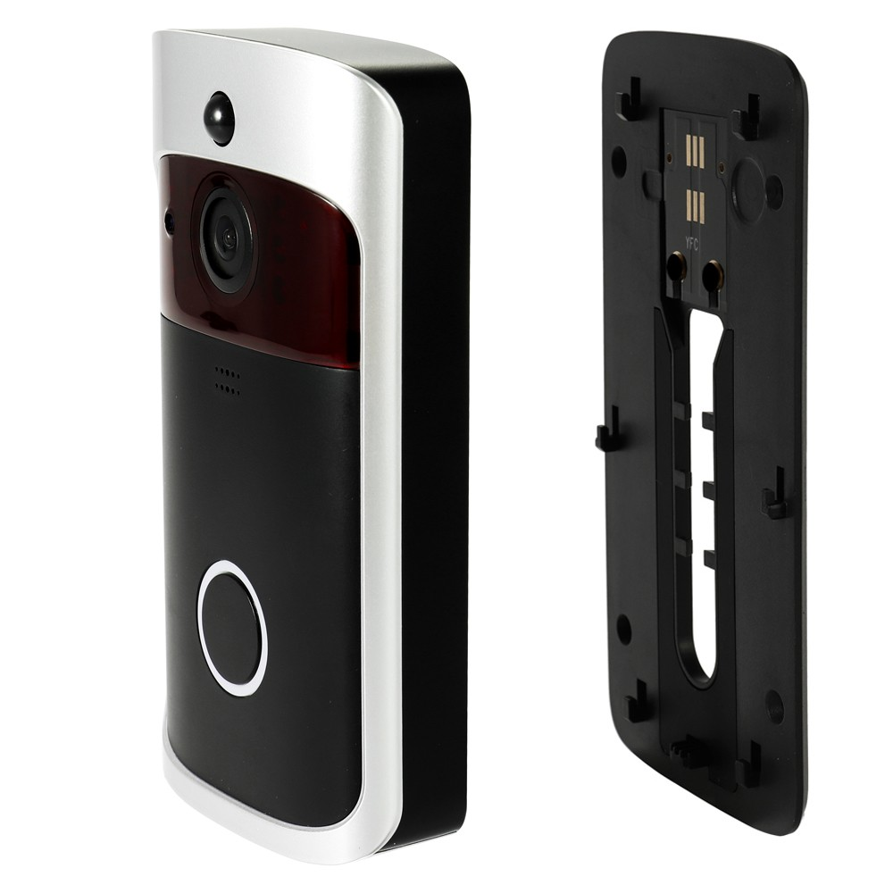 Smart Wireless WiFi Security DoorBell Video Door Phone with Plug-in Chime  Visual Recording