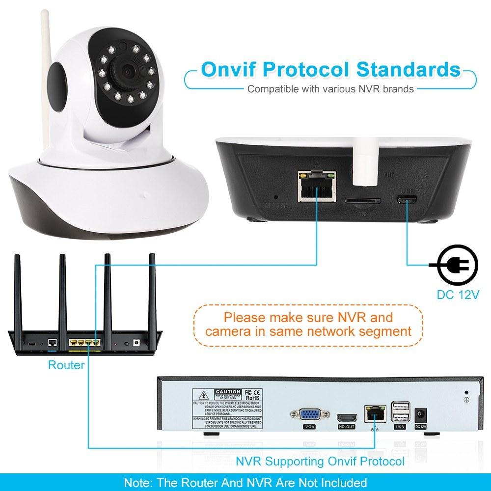 1080P Wireless WIFI Pan Tilt HD IP Camera