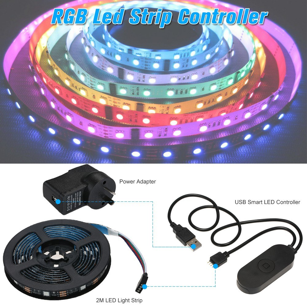 Best Usb Wifi Pc Tv Backlight Kit 2m 656ft Rgb Light Strip Led Au Lighting Wiring Schematic Lights