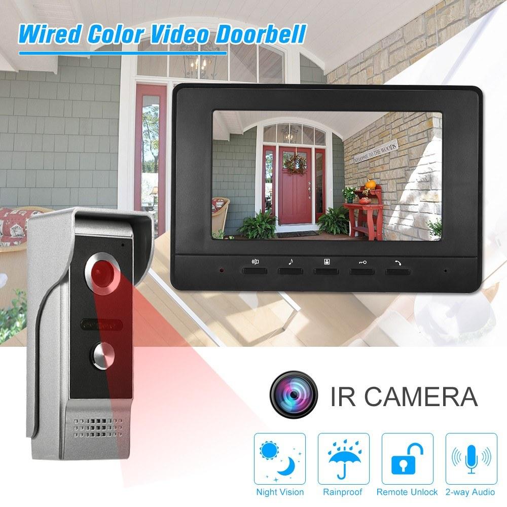 7 inch TFT Wired Color Video Doorbell Indoor Monitor Sales Online ...