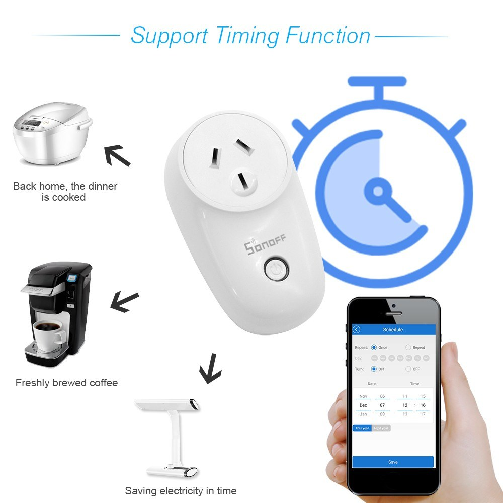 SONOFF S26 ITEAD Wifi Smart Socket AU Plug