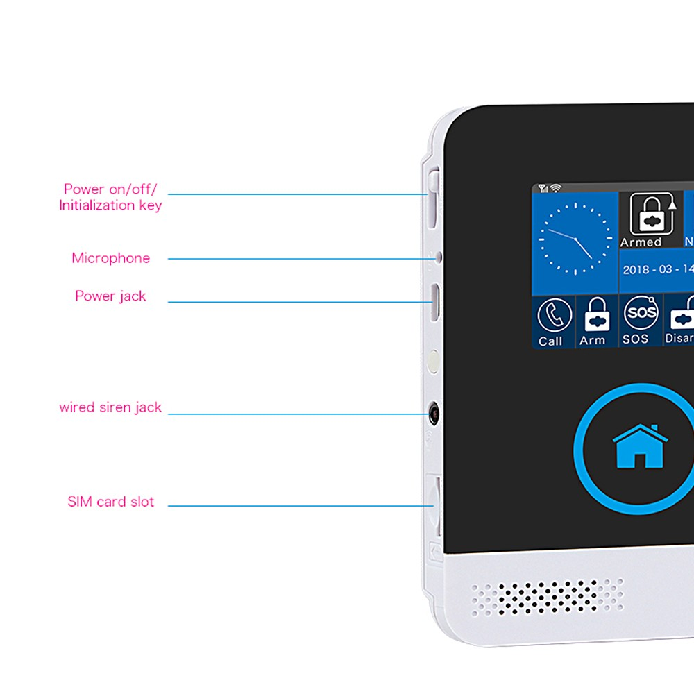 WiFi+GSM Home Alarm System Dual Network Alarm Controller