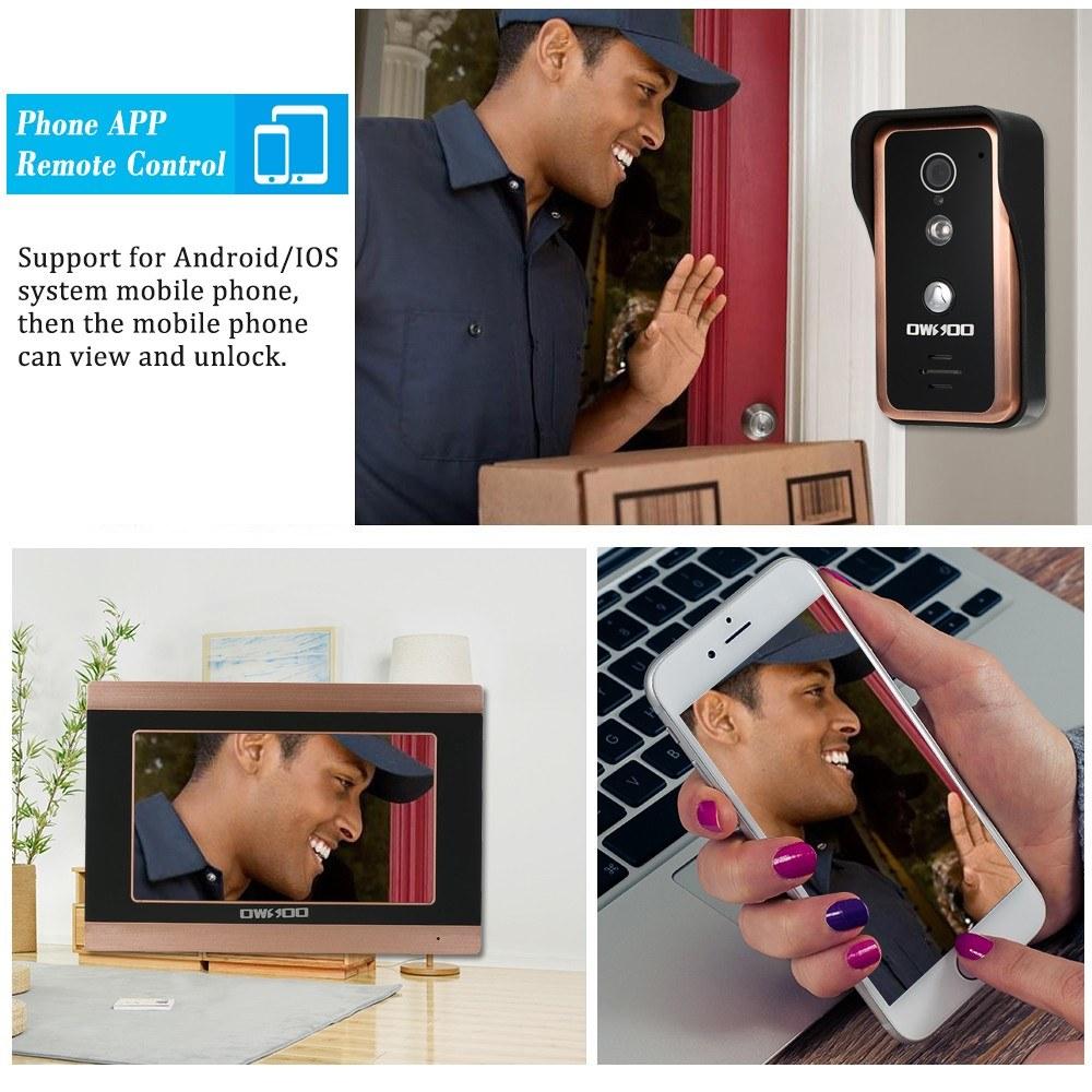 OWSOO 7inch Monitor Wired WIFI Video Door Phone Doorbell Sales Online au -  Tomtop