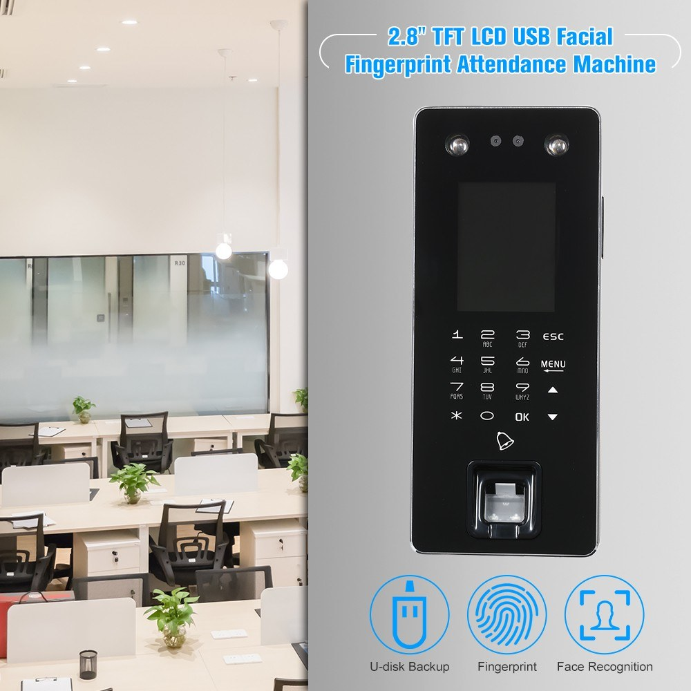 Door Access Control Time Attendance 28inch Tft Lcd Display Sales Fingerprint Wiring Diagram Package List 1 Machine Us Wireless Doorbell Connection Line Bag Of Accessories Manual