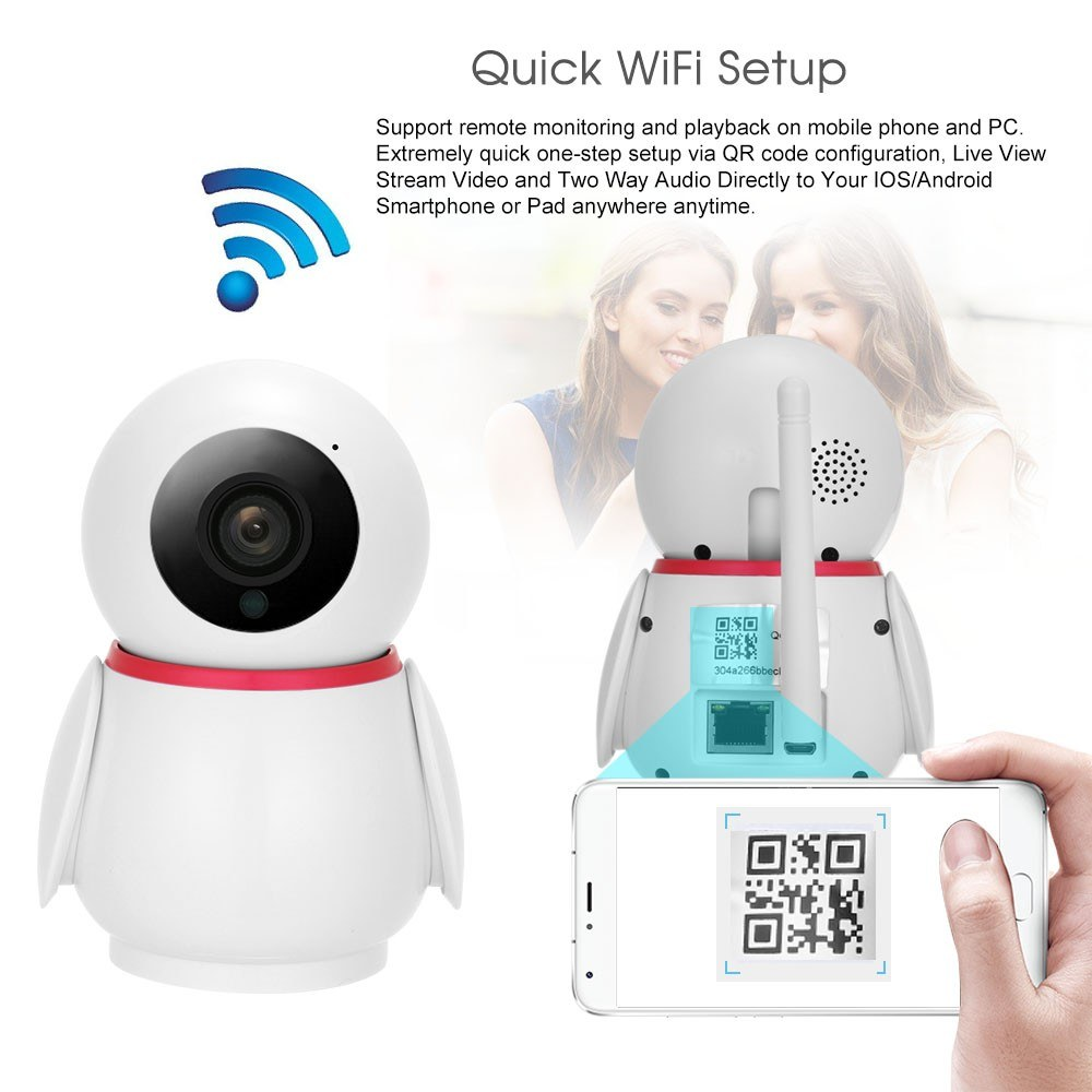 Home Security WIFI Camera 1080P Wireless IP Camera Baby Monitor Sales  Online eu - Tomtop