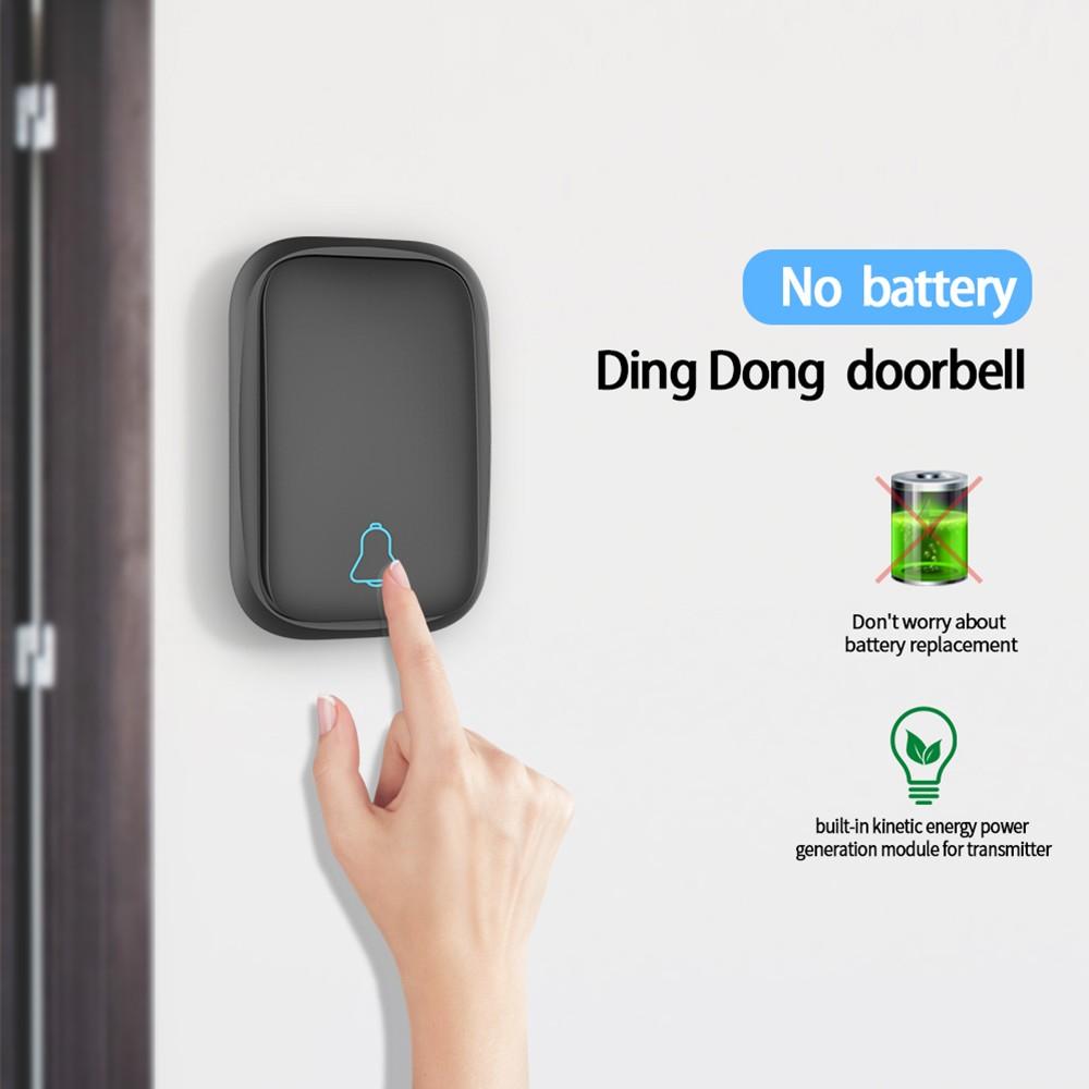 Wireless Door Bell Doorbell Mini Waterproof Doorbell Kits Sales Online  black eu plug - Tomtop