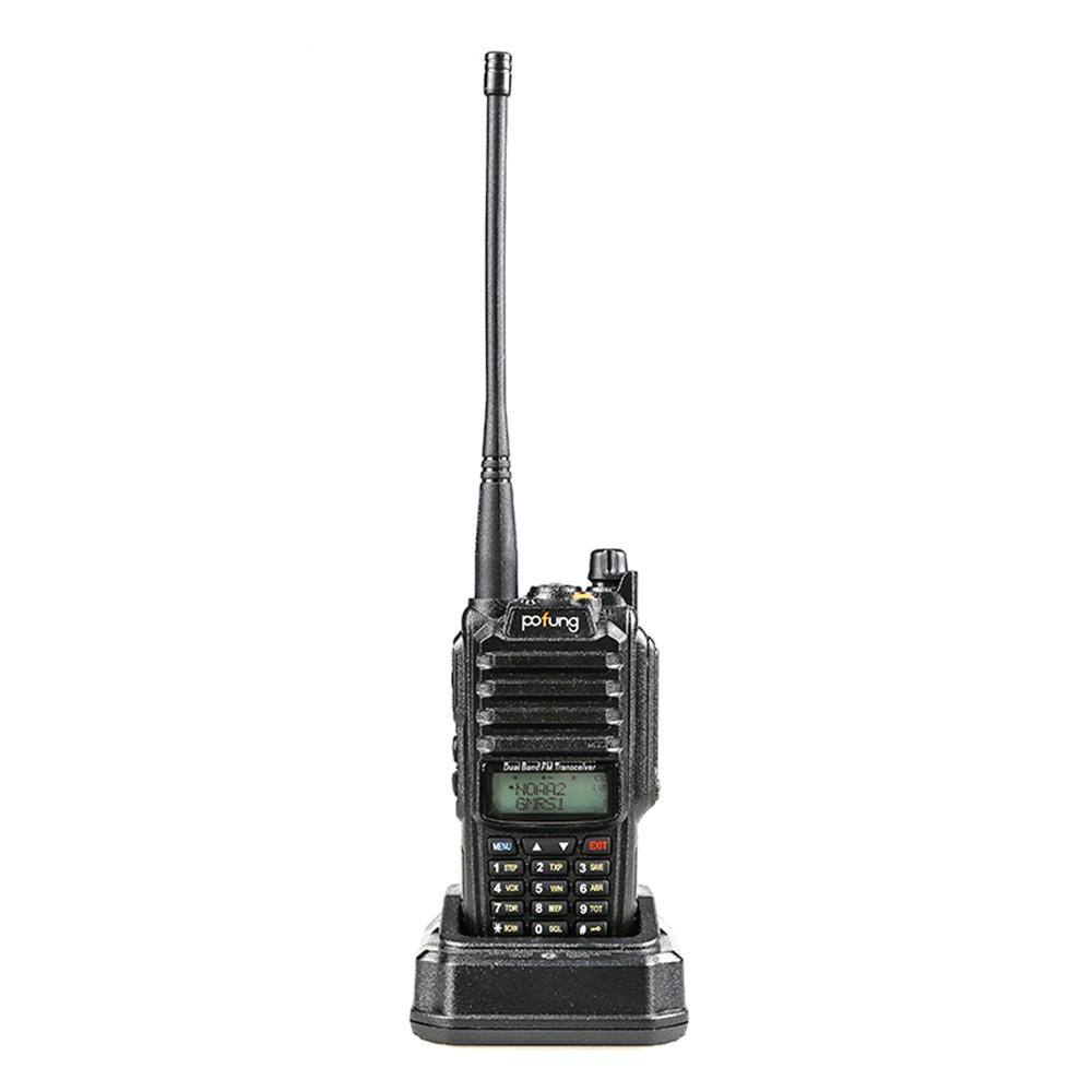 POFUNG P52UV Mini Walkie Talkie Portable Handheld Transceiver Interphone VOX Function Battery Save LED Flashlight FM Radio Two Way Radio