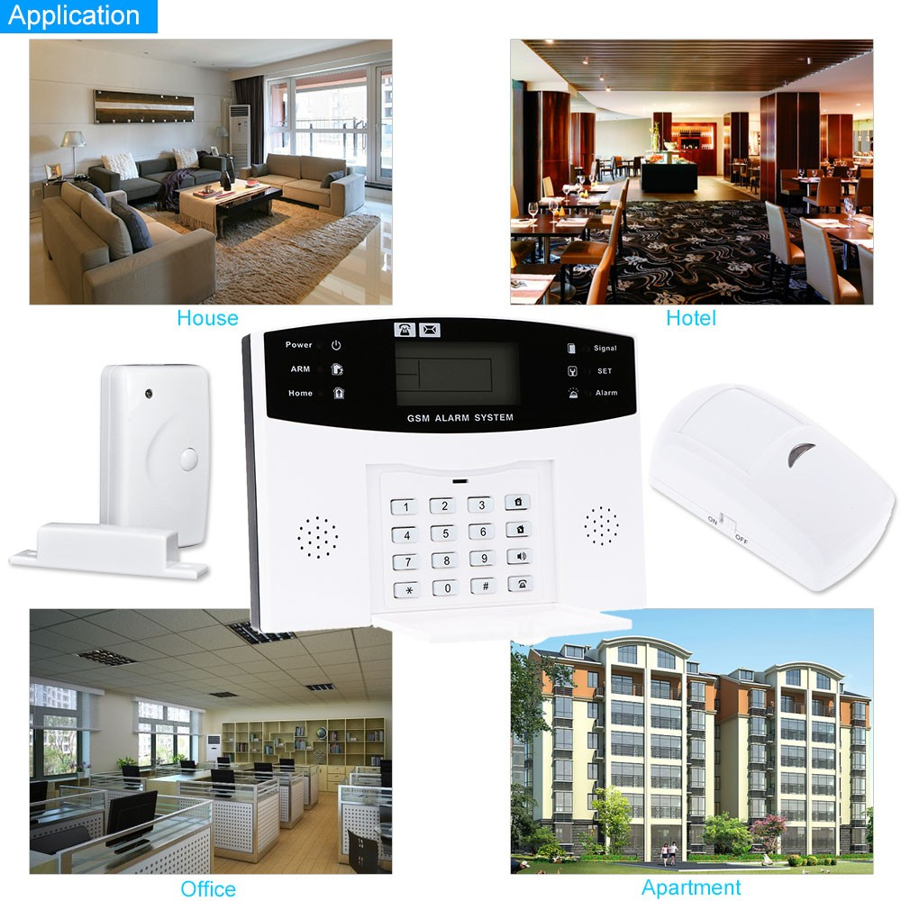 Wireless Gsm Sms Home Burglar Security Alarm System Detector Sensor Powered By Battery Kit Remote Control 433mhz