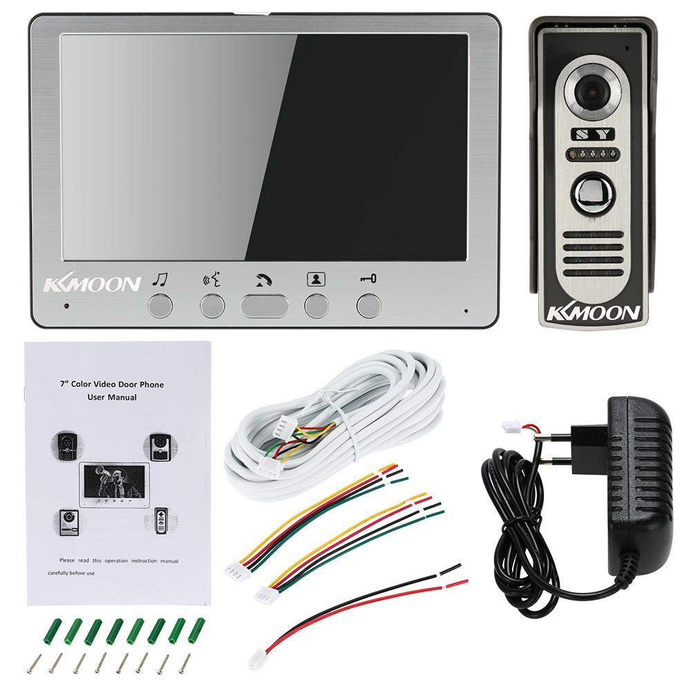 "Best KKmoon® 7"" Wired Video Door Phone System Visual Intercom eu ..."