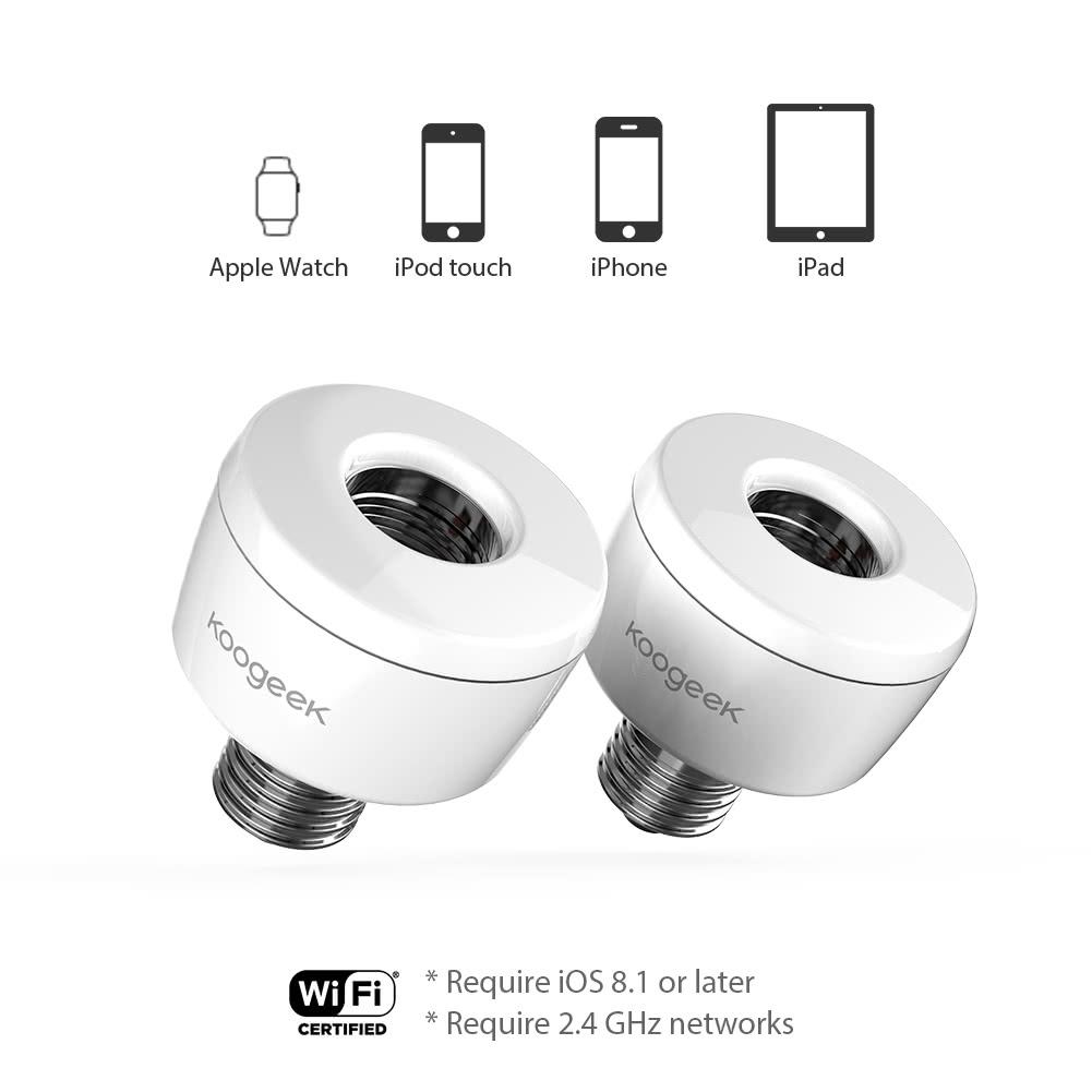 Wi-Fi Enabled Smart Socket - Koogeek.com for Smart Bulb Socket  181obs