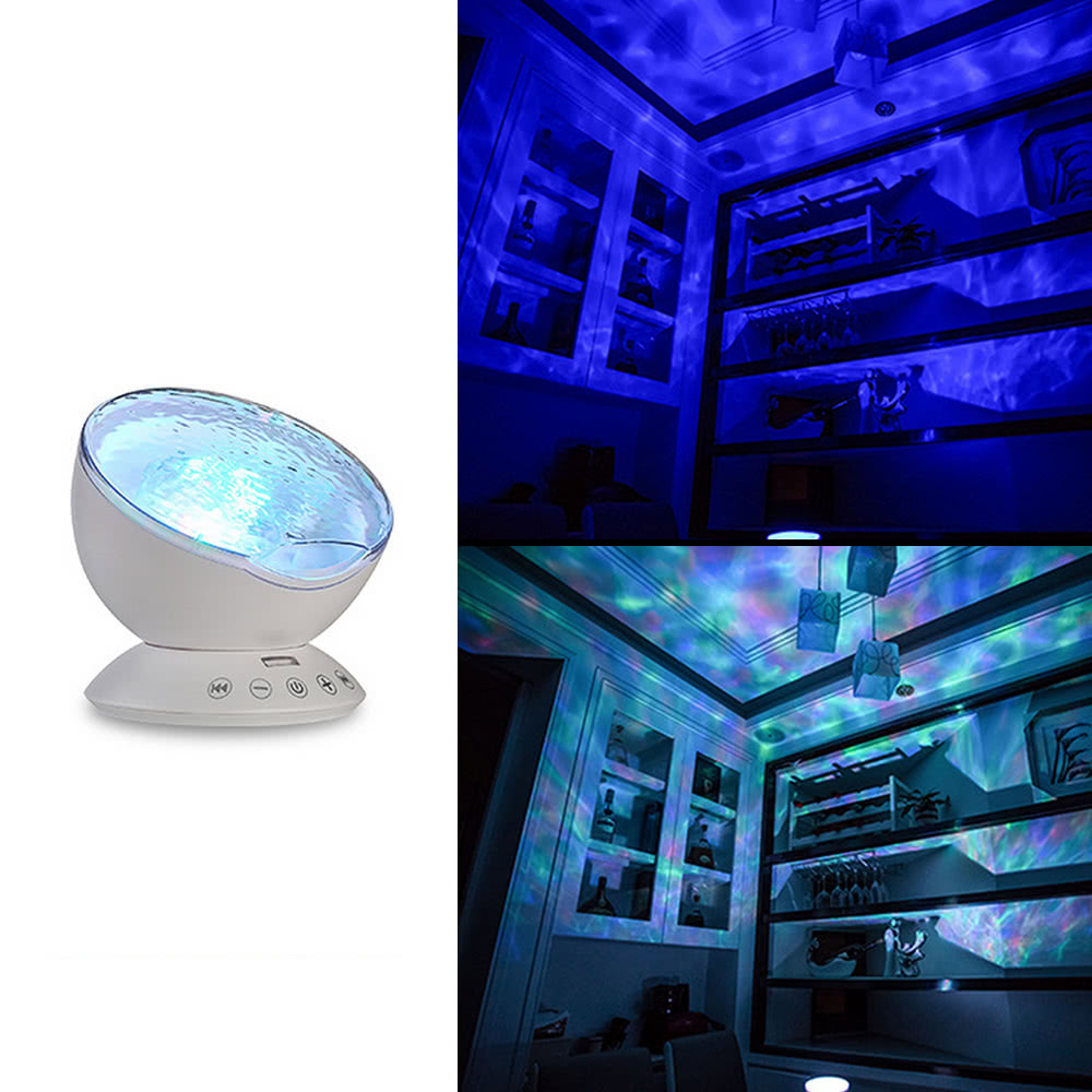Multicolor ocean wave light projector nightlight com mini for Sala novelty