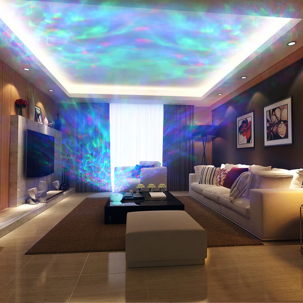 multicolor ocean wave light projektor nightlight mit mini musik player f r wohnzimmer und. Black Bedroom Furniture Sets. Home Design Ideas