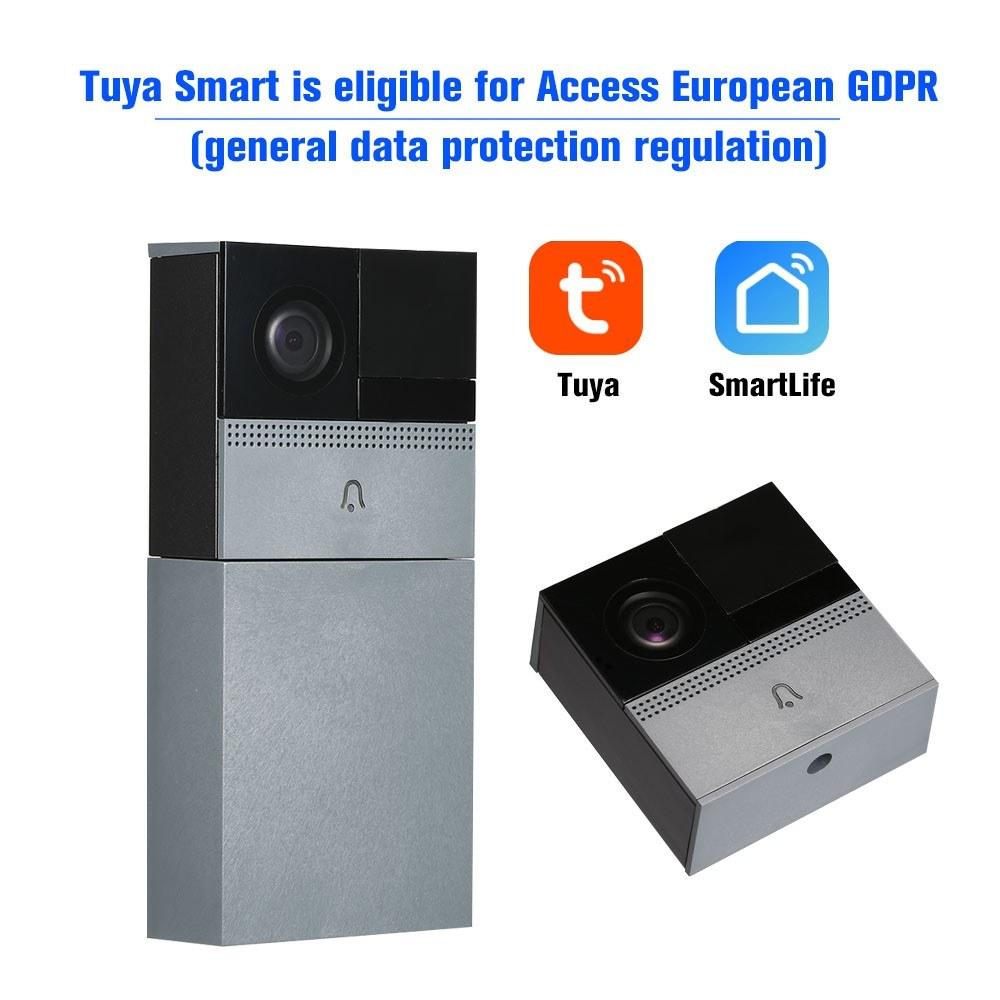 WiFi Smart Wireless Security DoorBell Sales Online grey - Tomtop