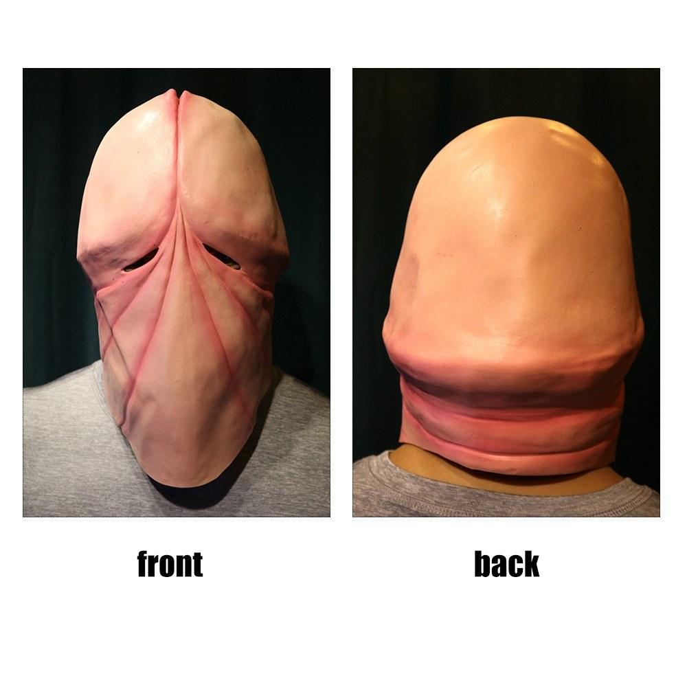 2d7bc5a9afc Best Halloween Funny Prank Joking 3D Penis Dick Mask Adult Fun Head ...